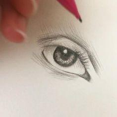 Art Drawings Sketches Simple, Pencil Art Drawings, Realistic Drawings, Eye Pencil Drawing, Skull Drawings, Pencil Sketching, Eye Drawing Tutorials, Drawing Techniques, Art Tutorials
