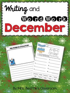 Looking for no-prep writing and word work activities for your students through the month of December? These seasonal activities include Christmas, Hanukkah & Kwanzaa, and winter-themed prompts. They are perfect for 2nd and 3rd grade students and require no advance preparation. Just print and go!