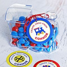 The cutest and easiest train party favors! How sweet are these?! :)