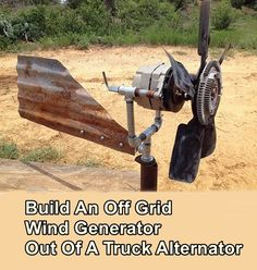 DIY Wind Turbine - Renewable Energy - MOTHER EARTH NEWS Build an off grid wind generator out of a truck alternator. If you live off grid or even if you have a cabin or campsite that is off grid this t Homestead Survival, Survival Tips, Survival Skills, Off Grid Survival, Survival Shelter, Survival Quotes, Wilderness Survival, Camping Survival, Renewable Energy
