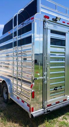 4-Star Stock Trailer w/ Polished Slats and Hayrack  (800) 848-3095