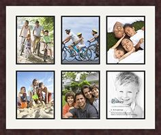 Art to Frames DoubleMultimat105575489FRBW26061 Collage Frame Photo Mat Double Mat with 6  8x10 Openings and Espresso frame *** Click image to review more details.