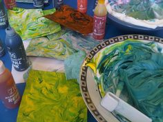 Marbling with Alcohol inks and shaving foam!