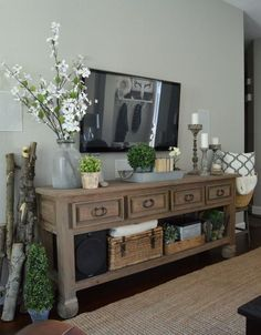 Beautiful console filled with lovely accents.