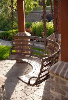 Unusual, beautiful garden swing.