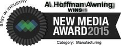 WINS 2015 New Media Award - Best in Industry-Manufacturing Website Award