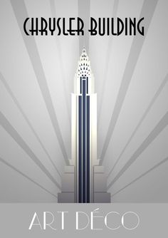 Chrysler building new york vintage travel poster print art deco framed canv Art Deco Artwork, Art Deco Paintings, Art Deco Posters, Vintage Posters, Vintage Art, Art Deco Stil, Art Deco Era, Corporate Identity Design, Graphisches Design