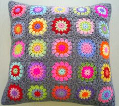 Crochet pillow. patroon kussen