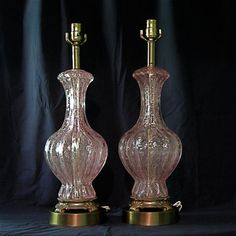 I have lamps similar to these, that I should put up for sale on Etsy? But, mine are much prettier, I do say so myself! Murano Glass Lamps by Cestici on Etsy, $1950.00