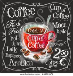 cup of coffee, espresso vector logo design template. fresh drink or menu board icon.