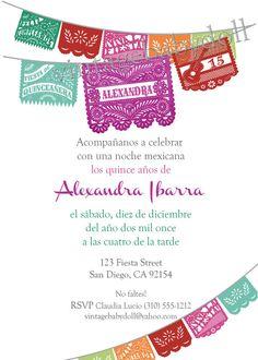 Quinceañera 15 Birthday Papel Picado Fiesta by Vintagebabydoll, $20.00