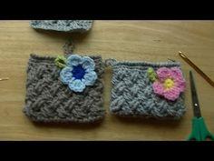リフ編みのポーチの作り方(ファスナー、裏地、手縫い) - YouTube