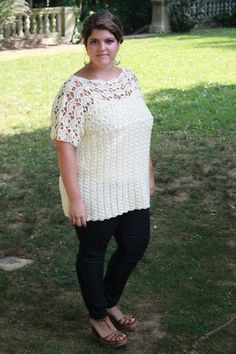 a81b17b6dbd4fc For the lace lovin  ladies who want the feel of a tee! Crochet Shirt