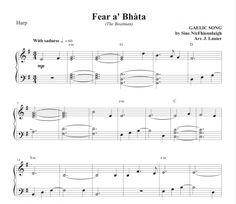 Fear a' Bhàta (The Boatman) for Harp Harp, Sheet Music, Songs, Song Books, Music Sheets
