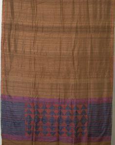 Weavers Studio Handwoven Bahaus Silk Sari 1007335 - Saris / Bengal Weaves - Parisera