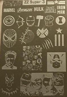 DC Comics and Marvel are represented on these plates, as are the actors and comics images. Perfect for all fans of the classic superheroes! Show us your superhero nails! Tag us when you post using our plates. Superhero Nails, Hulk Avengers, Nail Supply, Stamping Plates, Dc Comics, Guy, Nail Polish, Glitter, Products