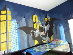 Cool batman bedroom with stylish design ideas painting for Batman bedroom paint ideas