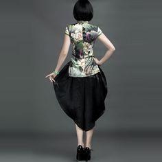 Chinese Style Watered Gauze Lantern Pants Black - $209 - SKU: 592433 - Buy Now: http://elegente.com/nzx.html #ChineseladyQipao #Qipao #Cheongsam