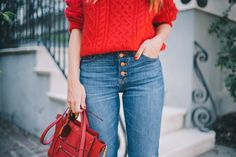 Gal Meets Glam Twenty Six - Demylee sweater, J.Crew jeans & Celine bag