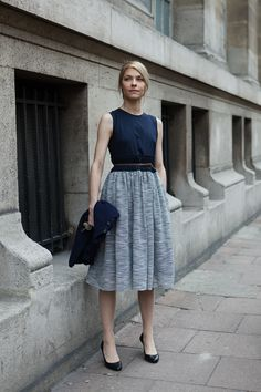 Grey and black combo - so elegant and so chic for work look