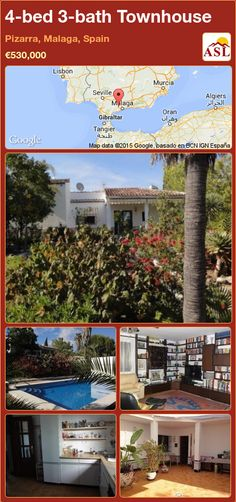 Townhouse for Sale in Pizarra, Malaga, Spain with 4 bedrooms, 3 bathrooms - A Spanish Life Malaga Spain, House Built, Blackboards, Murcia, Maine House, Seville, Private Pool, Lisbon, Townhouse