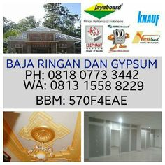 Pasang Plafon Gypsum Dan Baja Ringan  - GYPSUM PROFILINDO  CALL 0813 1558 8229 : Harga plafon dan partisi gypsum permeter