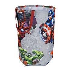 Avengers Collapsible Kids Laundry Hamper by Marvel - Pop Up Portable Childrens Clothes Basket for Closet, Bedroom, Boys & Girls Clothes - Foldable Laundry Bin with Strong Handles & Design Avengers Room, Marvel Room, Batman Room, Superhero Room, Black Panthers, Hulk, Laundry Hamper, Laundry Bin, Marvel Comics