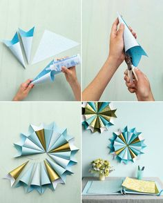 escarapela Get the how-to for these magnificent paper medallions -- perfect for your next party or guest book tableLearn how to make these easy DIY paper wedding decorations. Paper Wedding Decorations, Wedding Paper, Diy Wedding, Room Decorations, Diy Paper, Paper Crafts, Paper Medallions, Diy Y Manualidades, Diy Backdrop
