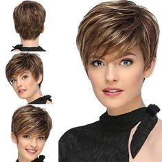 Jaw-Length Shaggy Haircut with Side Bangs - 70 Fabulous Choppy Bob Hairstyles – Best Textured Bob Ideas - The Trending Hairstyle Short Choppy Hair, Layered Curly Hair, Short Thin Hair, Short Hairstyles For Thick Hair, Short Grey Hair, Haircuts For Fine Hair, Haircut For Thick Hair, Short Hair With Layers, Short Stacked Hair