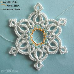 one of my tatted (and beaded) snowflake pattern