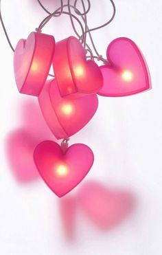 Heart lights for Valentine's Day. Happy Valentine Day Quotes, Happy Valentines Day, Valentine Hearts, Pinterest Valentines, I Love Heart, My Heart, Heart Art, Pink Love, Pretty In Pink