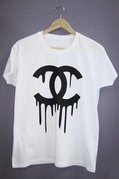 splatter logo tshirt melted tshirt women tshirt by twitee on Etsy, €17.90