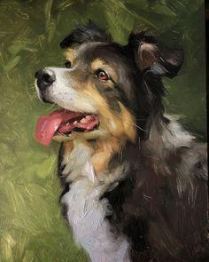 "Jennifer Gennari on Instagram: ""Phia 🌸 #commissionedart #oilpainting #realism #creative #creativeuprising #paintanyway #allaprima #dog #dogsofinstagram #dogs_of_instagram…"""