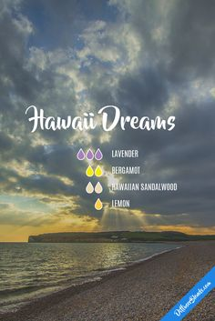 Hawaii dreams - lavender, bergamot, hawaiian sandalwood and lemon