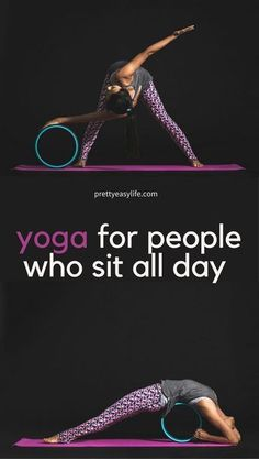 yoga for people who sit all day #fitnessinspiration