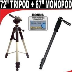 Introducing Professional PRO 72 Super Strong Tripod With Deluxe Soft Carrying Case  67 Digital Pro Photo  Video Monopod Includes Free Carrying Case For The Canon T1i XS XSI XT XTI 50D 40D 30D 20D 10D 5D 1DS MARK 2  3 1D MARK 2  3 Digital SLR Cameras. It is a great product and follow us for more updates!