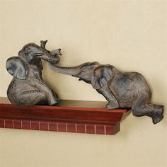 Sometimes we all need a hand (or a trunk) with getting back up, and there's no better representation of this than the Helpful Elephant Shelf Sitter Set. Elephant Room, Elephant Home Decor, Cute Elephant, Elephant Gifts, Elephant Decorations, Elephant Stuff, Happy Elephant, Elephant Jewelry, Elefante Hindu