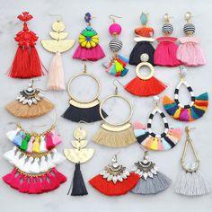 Tassel Statement Earrings | Jane