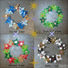 couronne noel Easy Christmas Crafts, Glass Christmas Ornaments, Simple Christmas, Christmas Wreaths, Christmas Bulbs, Xmas, Christmas Recipes, Christmas Party Invitations, Theme Noel