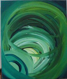 "Titled: Turbulence  - Original Acrylic Abstract Painting - 20"" x 24"""