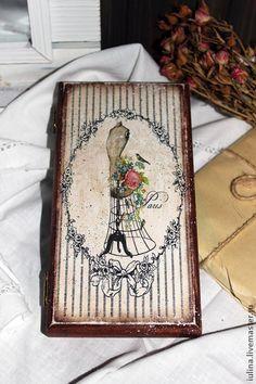 """Купюрница """"Paris"""" - купюрница,шкатулка для денег,подарок,подарок для женщины"""