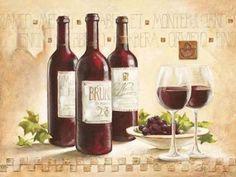 Claudia-Ancilotti-Montepulciano-Fertig-Bild-50x70-Wandbild-Kueche-Wein-Toskana