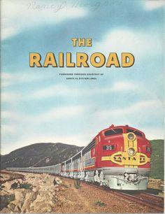 Railroad History Book Santa Fe System 1958 How Railroads Began Paper Back