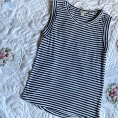 J.Crew ❤️ Pre-loved Beautiful J.Crew tank tops BLACK and white color normal sign of use , great condition . J. Crew Tops Tank Tops