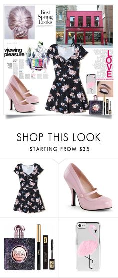 """""""Untitled #3052"""" by jordanbirnie ❤ liked on Polyvore featuring H&M, Hollister Co. and Yves Saint Laurent"""