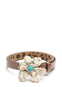 BETSEY JOHNSON Stone Flower Buckle Belt