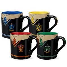 Rep the house you were sorted into with these uniform mugs. Drink your favorite cup of tea while you patiently await the owl that clearly got lost on the way to your house with a certain letter.