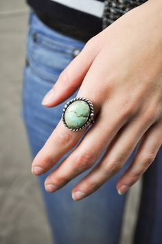 Vintage Navajo Turquoise Ring  via Shopmine, get product recommendations based on people you follow!