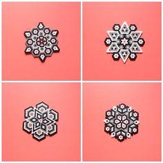 Hama perler bead coaster/potential Christmas ornaments!