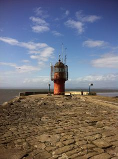 Lighthouse at heysham harbour